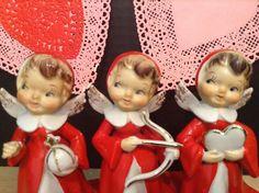 Vintage Valentine Figurine Angels Made in Japan Lefton Napco ?