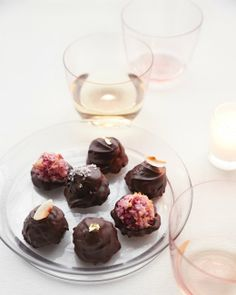 Passover Raspberry Macaroons in Chocolate Shells