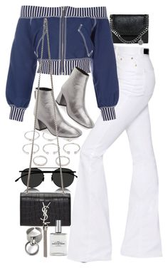 """""""Untitled #10091"""" by nikka-phillips ❤ liked on Polyvore featuring Mykita, Forever 21, STELLA McCARTNEY, Sonia Rykiel, Jean-Paul Gaultier, Topshop and Yves Saint Laurent"""