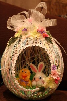 Uses for the yarn egg.  Mom used to make these!!!