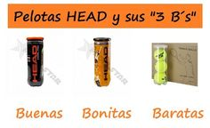 """Diferencia entre BOLAS Head CS, Head BELA, y Head PRO. """"Para gustos las pelotas"""" ¿ Qué os parecen? http://blgs.co/ap7J5N"""