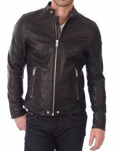 Real Leather Genuine Lambskin Men Jacket Motorcycle Slim Fit Stylish Biker BS26 #WesternOutfit #Motorcycle
