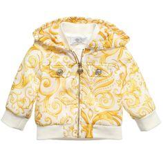 Young Versace Baby Girls Baroque Lightweight Jacket  at Childrensalon.com