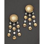 John Hardy Palu 18K Gold & Silver Chandelier Earrings