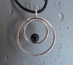 Silver necklace with Hematite/bloodstone