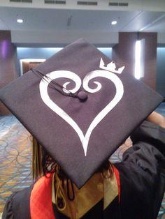 Kingdom Hearts Graduation cap. by kawaiiSoup