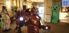 Probably one of the best Iron Man costumes ever built (gif)