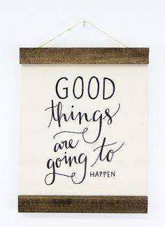 Good Things Wall Hanging via @MooreaSeal