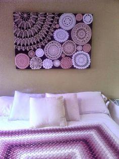 Lindas idéias prá aproveitar restinhos de linha , e ainda de quebra decorar a casa   com quadros exclusivos. Fim de semana cheio de insp...