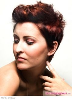 Girly Short Quiff Hair Style...as I have rather short hair now, maybe I could do this???