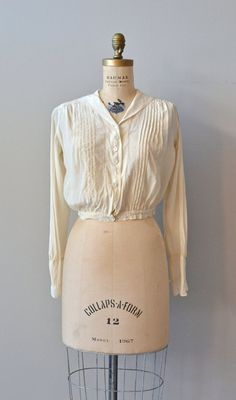 Loxley silk pintuck blouse / vintage Edwardian cream by DearGolden