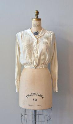 Loxley silk pintuck blouse / vintage Edwardian cream by DearGolden