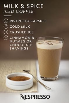 Fall may be here but that doesn't mean that you can't still enjoy your favorite iced coffee drinks. Give cold iced coffee a cozy autumn twist with this Milk and Spice Iced Coffee recipe from Nespresso. Classic flavors like cinnamon and nutmeg or chocolate shavings make this drink the ultimate fall treat. Click here to learn more.