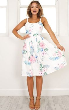 Spring Outfits- Easter dresses -- One Reason Dress in white floral