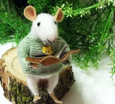 Mallow is A Needle Felted Mouse Soft Sculptured by WildWoodHollow