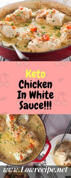 Keto Chicken In White Sauce!!! - Low Recipe