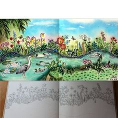 Meadow enchanted forest by Adi_colouring