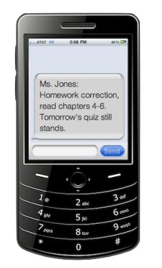 Remind101: Private Text Message System. A great system for communicating with parents