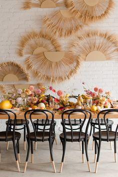mesa posta para café da manhã boho wedding party - We Share Ideas