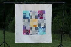Boxed In quilt finish - a twist on a traditional 9 patch | Flickr - Photo Sharing!