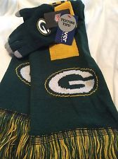 NWT NFL Green Bay Packers Gloves & Scarf Set Knitted Forever Collectibles Dist in Sports Mem, Cards & Fan Shop, Fan Apparel & Souvenirs, Football-NFL | eBay