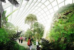 innovative ETFE film pillows for botanic gardens