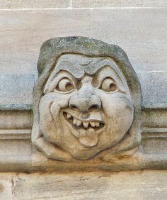 Ugly face  from the fecade of Exeter College,Oxford