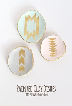 DIY Painted Clay Ring Dishes   littleredwindow.com