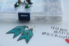 DIY Handmade Shrinky Dink Arrow Earrings