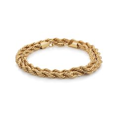 Bracelet by Chained&Able Matt Gold finish Double Wrap Rope chain Lobster clasp fastening Steel, Brass Rope Chain, Matte Gold, Brass, Beige, Bracelets, Jewelry, Jewlery, Jewerly, Schmuck