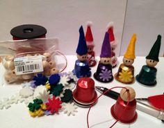 Recyclage de capsules Nespresso pour créer des petits lutins de Noël... gnomi riciclo
