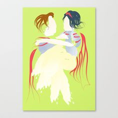 Disney - Snow White Stretched Canvas by Jessica Slater Design & Illustration - $85.00