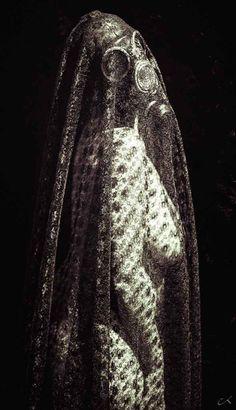 La veuve noire par pixeca #gasmask #transparancy #nude