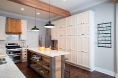"""Love the storage cabinet. Hate to see """"clutter"""". Putting it behind doors does the job.   Find the best of Fixer Upper from HGTV"""