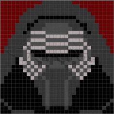 Kylo Ren Star Wars Quilt, Star Wars Room, Xmas Cross Stitch, Beaded Cross Stitch, Cross Stitching, Cross Stitch Patterns, Star Wars Crochet, Crochet Stars, Crochet Quilt