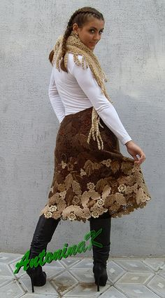 Irish crochet skirt