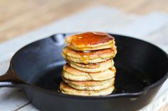 Almond Flour Pancakes {silver dollar}