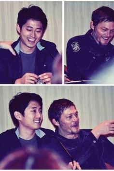 Steven and Norman having fun together