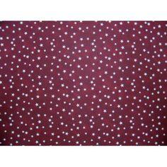 SheetWorld Fitted Sheet (Fits BabyBjorn Travel Crib Light) - Cloudy Stars Burgundy