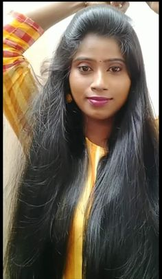 Long Silky Hair, Long Dark Hair, Thick Hair, Indian Long Hair Braid, Braids For Long Hair, Hair Gif, Glow Hair, Indian Wife, Indian Hairstyles