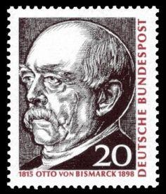 Otto von Bismarck auf Briefmarke von 1965
