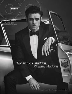 """""""Bodyguard"""" and """"Game of Thrones"""" Star Richard Madden Graces the Cover of British GQ Magazine Richard Madden, James Madden, Gentlemans Club, Gq Magazine Covers, Youtubers, Scottish Actors, British Actors, King In The North, Hollywood Actor"""