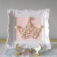 princess room-diy pearl tiara