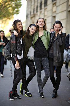 Vittoria Ceretti, Antonina Petkovic, Alexandra Hochguertel and Rose Smith
