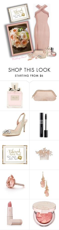 """""""Wedding Guest!"""" by sarahguo ❤ liked on Polyvore featuring Christian Dior, Burberry, Carvela, Polaroid, Nina, Avon, Lipstick Queen and Ciaté"""