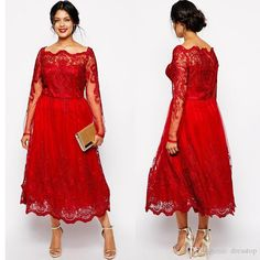free shipping, $132.62/piece:buy wholesale  stunning red plus size evening dresses sleeves square neckline lace appliqued a-line prom gowns tulle tea-length formal dress plus sizes,2016 spring summer,tea-length on dresstop's Store from DHgate.com, get worldwide delivery and buyer protection service.