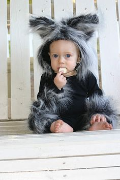 Hand sewn big bad wolf halloween costume
