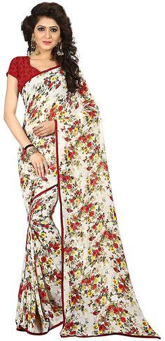 b07fb2c75da Satthwa Outfits · Floral Print Saree · Floral Print Saree