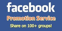 Key Features of my service: -★- Real White Hat Social Media promotion -★- Share on 100 FB Groups -★- Try to post on relevant Groups -★- Facebook Traffic