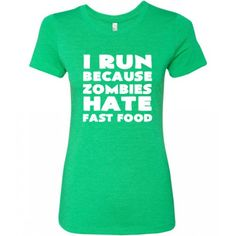 I Run Because Zombies Hate Fast Food Shirt - Running Zombie Shirt - Zombie Running Tank Top